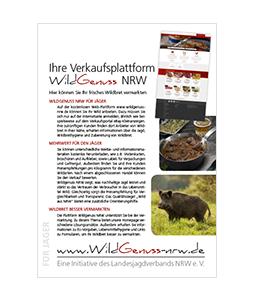 Wildgenuss A5 Flyer für Jäger und Käufer