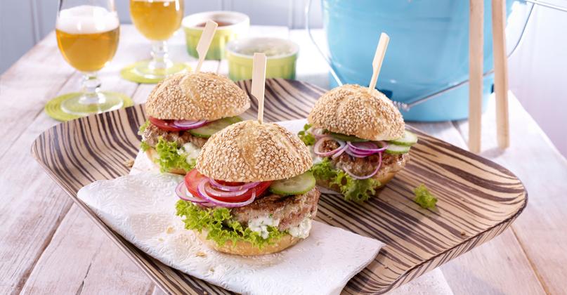 Reh-Burger vom Grill